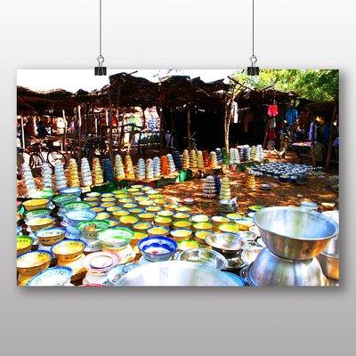 Big Box Art Burkina Faso Market Photographic Print Wrapped on Canvas