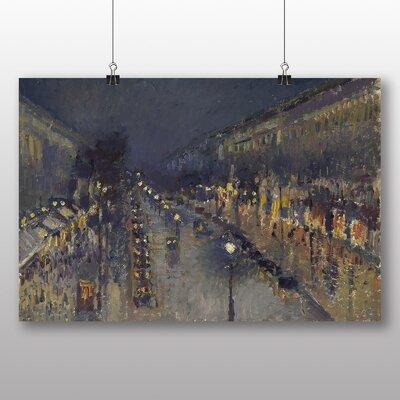 Big Box Art 'Street at Night' by Camille Pissarro Art Print