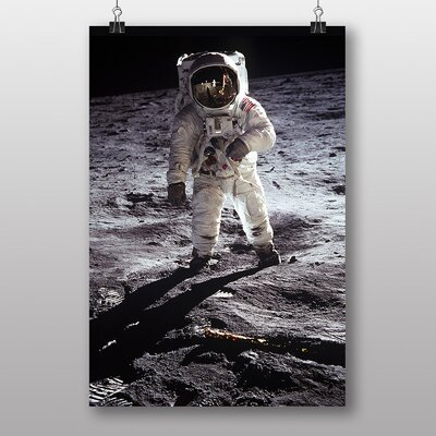 Big Box Art Buzz Aldrin Moon Landing Space Photographic Print on Canvas