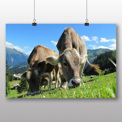 Big Box Art Cows No.3 Photographic Print Wrapped on Canvas