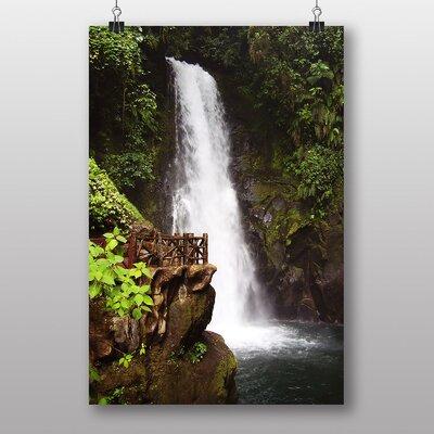 Big Box Art Costa Rica Waterfall Photographic Print on Canvas