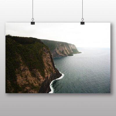 Big Box Art Coast Shore Cliffs Beach No.6 Photographic Print on Canvas