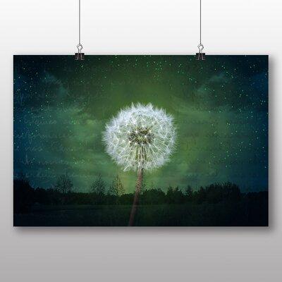 Big Box Art Dandelion Seeds Flower No.6 Graphic Art Wrapped on Canvas