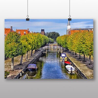 Big Box Art Canal Barge Photographic Print Wrapped on Canvas