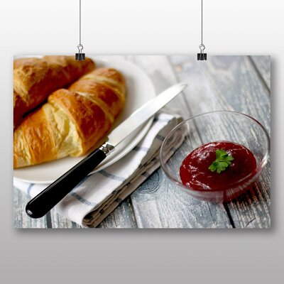 Big Box Art Croissants and Jam Photographic Print Wrapped on Canvas