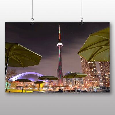 Big Box Art CN Tower Toronto Canada No.4 Photographic Print on Canvas