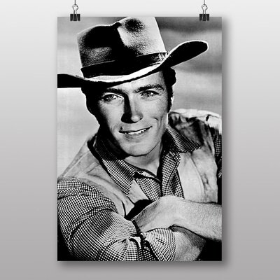 Big Box Art Clint Eastwood No.1 Photographic Print Wrapped on Canvas