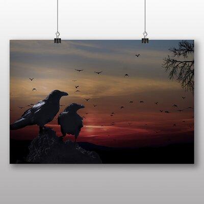 Big Box Art Crows Sundown Photographic Print