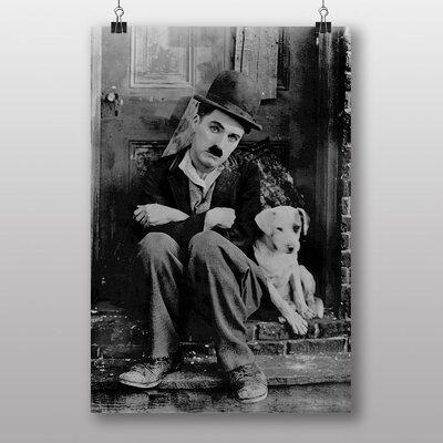 Big Box Art Charlie Chaplin No.3 Photographic Print on Canvas