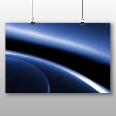 Big Box Art Blue Abstract Design No.3 Graphic Art on Canvas