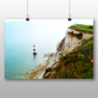 Big Box Art Coast Shore Cliffs Beach Lighthouse Photographic Print on Canvas