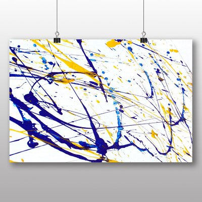 Big Box Art Colourful Paint Splash Abstract No.8 Art Print