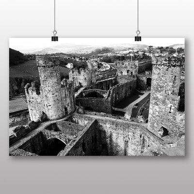 Big Box Art Conwy Castle Wales Photographic Print Wrapped on Canvas