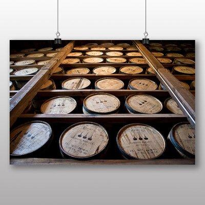 Big Box Art Distillery Barrel Beer Keg No.4 Photographic Print on Canvas