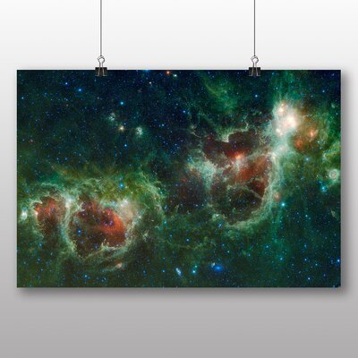 Big Box Art Cosmos Space Graphic Art Wrapped on Canvas
