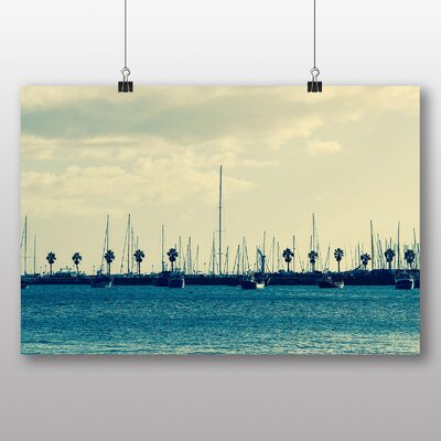 Big Box Art 'Boats Docked at the Harbour' Photographic Print