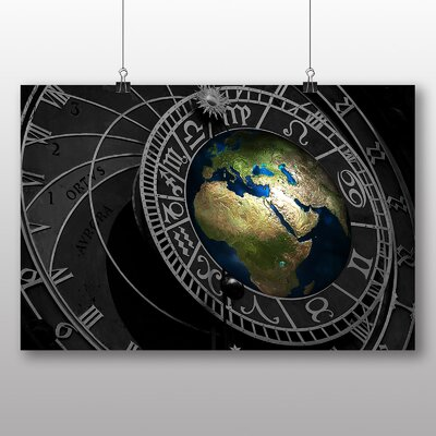 Big Box Art Earth Globe Abstract No.1 Graphic Art on Canvas