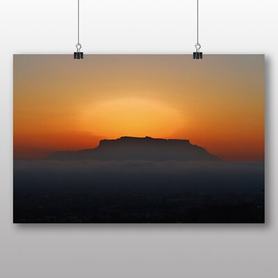 Big Box Art Cape Town Table Mountain Sunset South Africa Photographic Print Wrapped on Canvas