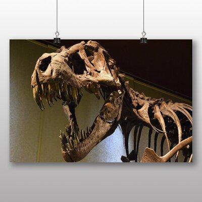 Big Box Art Dinosaur Skeleton T Rex Photographic Print on Canvas