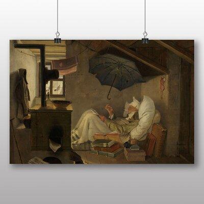Big Box Art 'The Poet' by Carl Spitzweg Art Print