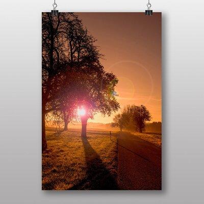 Big Box Art Beautiful Sunrise No.2 Photographic Print Wrapped on Canvas