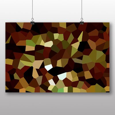 Big Box Art Crystallise Abstract No.5 Graphic Art Wrapped on Canvas