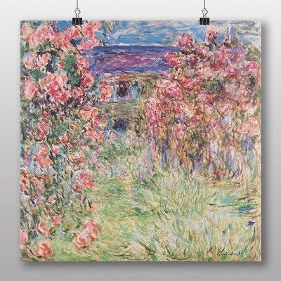Big Box Art 'Rose House' by Claude Monet Art Print