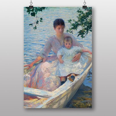 "Big Box Art ""Mother and Child in a Boat"" by Edmund C. Tarbell Art Print"