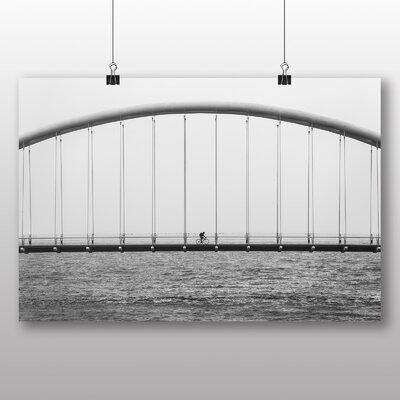 Big Box Art Cyclist Over the Bridge Photographic Print