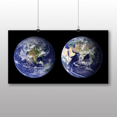 Big Box Art Earth From Space No.3 Graphic Art Wrapped on Canvas