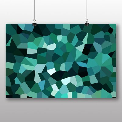 Big Box Art Crystallise Abstract No.6 Graphic Art Wrapped on Canvas