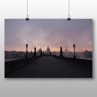 Big Box Art Charles Bridge Prague Czech Republic No.1 Photographic Print Wrapped on Canvas