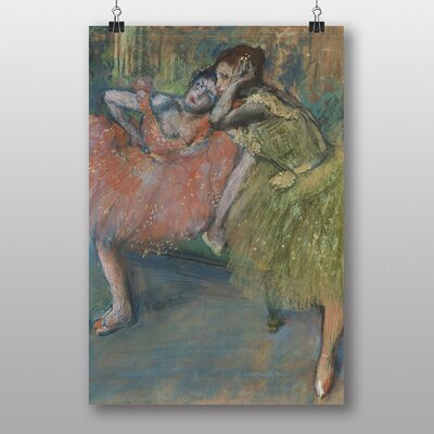 "Big Box Art ""Two Dancers, Green and Pink"" by Edgar Degas Art Print"
