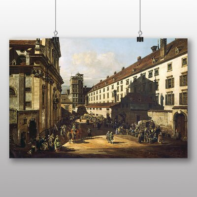 Big Box Art 'Vienna Dominican Church' by Bernado Bellotto Canaletto Art Print