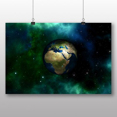 Big Box Art Earth Globe Space Graphic Art Wrapped on Canvas