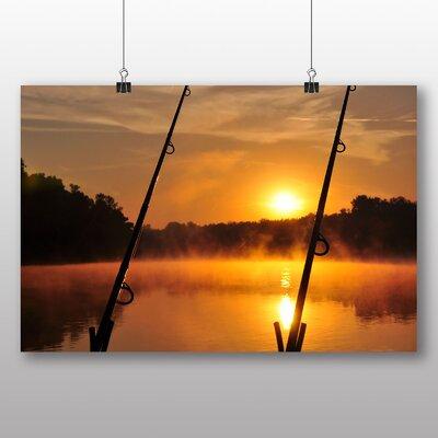 Big Box Art Dawn Fishing Rods Photographic Print on Canvas