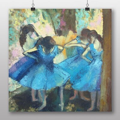 Big Box Art 'Dancers in Blue' by Edgar Degas Art Print