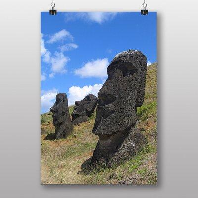 Big Box Art Easter Island Head Stones Photographic Print