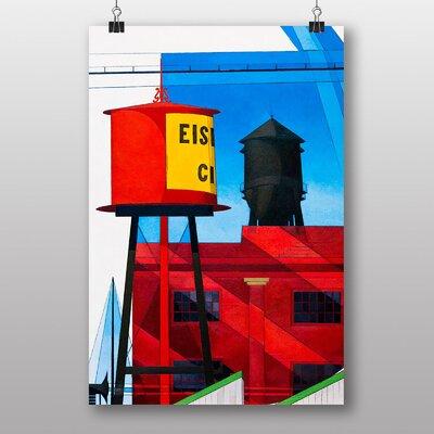 "Big Box Art ""Water Tower"" by Charles Demuth Art Print"