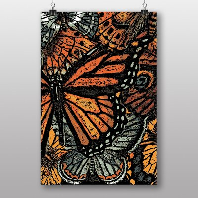 Big Box Art Butterfly Art Graphic Art Wrapped on Canvas