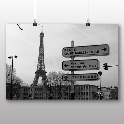 Big Box Art Eiffel Tower Paris France No.1 Photographic Print Wrapped on Canvas
