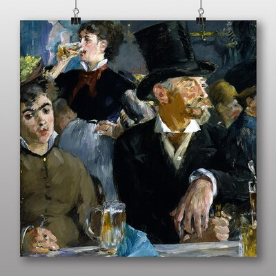 Big Box Art 'At the Cafe' by Edouard Manet Art Print