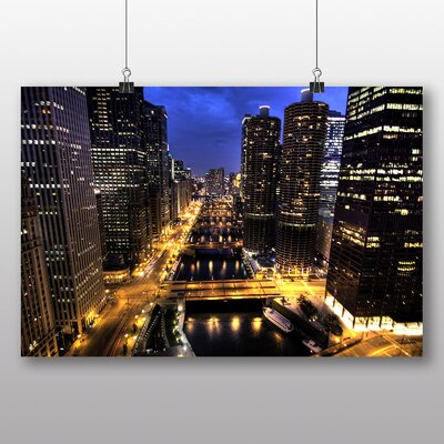 Big Box Art 'City and Buildings at Night' Photographic Print