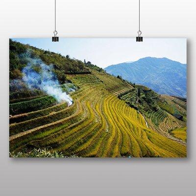 Big Box Art China Rice Terraces Photographic Print on Canvas