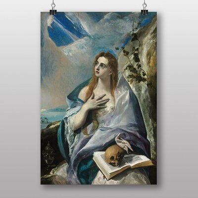 "Big Box Art ""The Penitent Magdalene"" by El Greco Art Print"