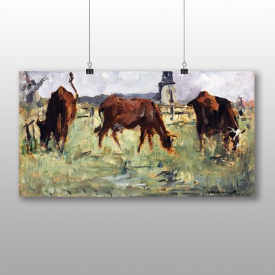 Big Box Art 'Cows in a Field' by Edouard Manet Art Print