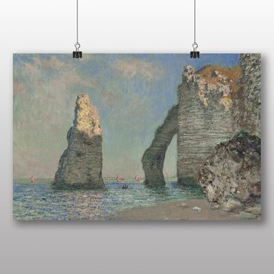 Big Box Art 'Sea Cliffs' by Claude Monet Art Print