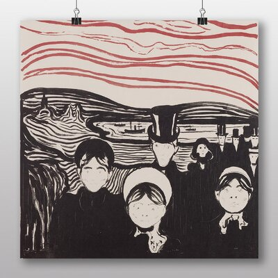 Big Box Art 'Angst' by Edvard Munch Art Print