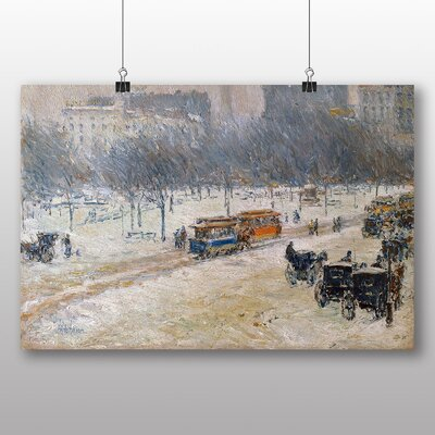 Big Box Art 'Winter in Union Square, Washington' by Childe Hassam Art Print