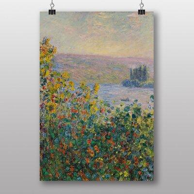 """Big Box Art """"Flower Beds at Vetheuil"""" by Claude Monet Art Print"""